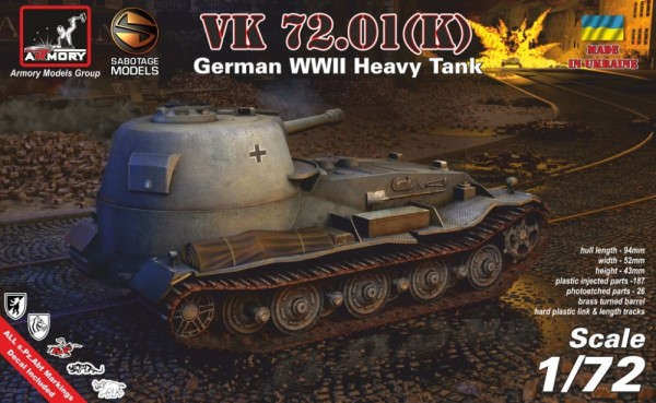 AR72202   1/72 VK 72.01 (K) - German WWII heavy prototype tank (thumb24090)