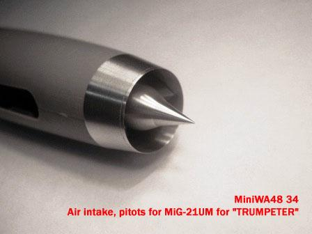 "MiniWA4834   Air intake, pitots for MiG-21UM for ""TRUMPETER"" (thumb23155)"