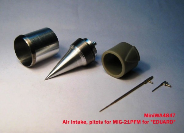 "MiniWA4847    Air intake, pitots for MiG-21PFM for ""EDUARD"" (thumb23202)"