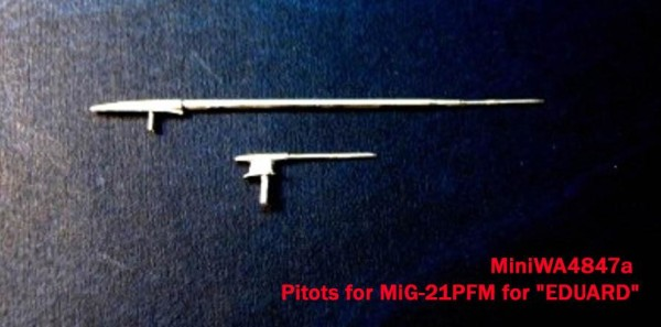 "MiniWA4847a    Pitots for MiG-21PFM for ""EDUARD"" (thumb23209)"