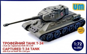 UM252   T-34 captured tank with 8,8 cm KwK 36L/36 gun (thumb24504)