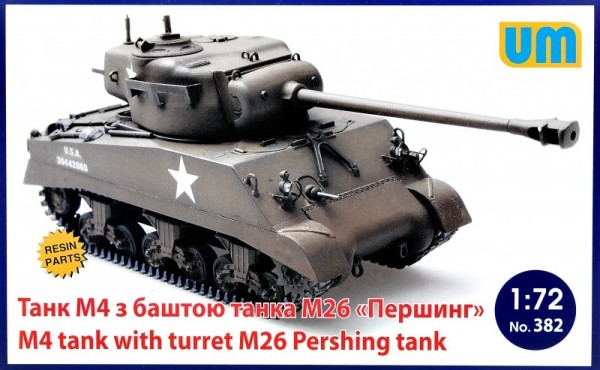 UM382   M4 tank with turret M26 Pershing tank (thumb24510)