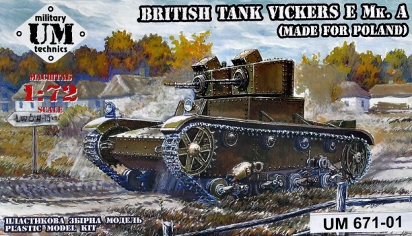 UMT671-01   Vickers E Mk.A British tank (made for Poland), plastic tracks (thumb24518)