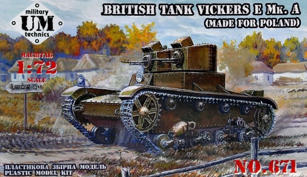 UMT671   Vickers E Mk.A British tank (made for Poland), rubber tracks (thumb24516)