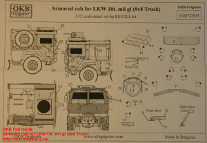 OKBP720017   Armored cab for LKW 10t. mil gl (8x8 Truck) (attach2 22788)