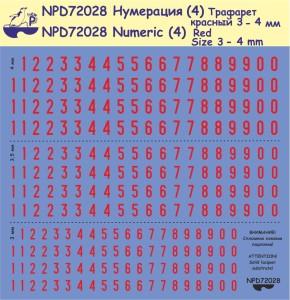 """Pen72028    Цифры (2) """"Красные"""" (thumb22873)"""