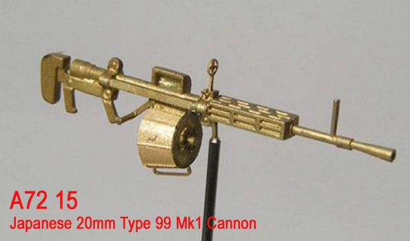 MiniWА7215    Japanese 20mm Type 99 Mk1 Cannon (thumb22963)