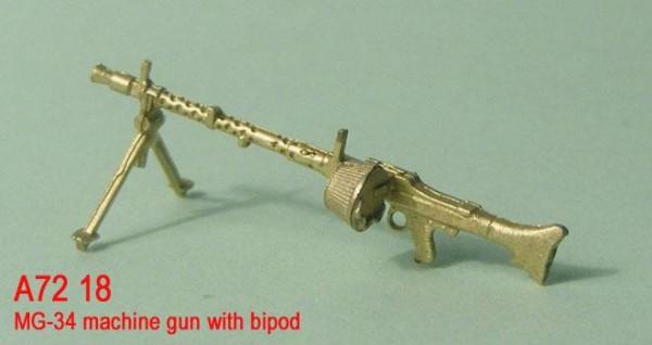 MiniWА7218    MG-34 machine gun with bipod (thumb22969)