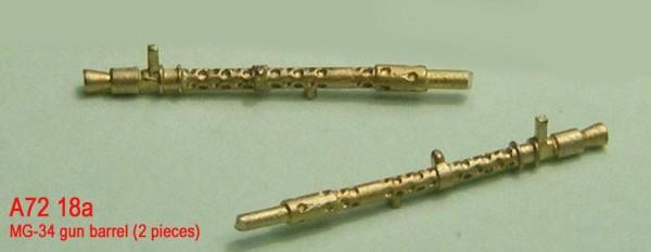 MiniWА7218a    MG-34 gun barrel (2 pieces) (thumb22971)