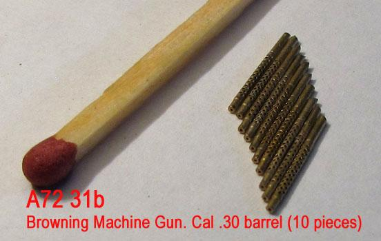 MiniWА7231b    Browning Machine Gun. Cal .30 barrel (10 pieces) (thumb23012)