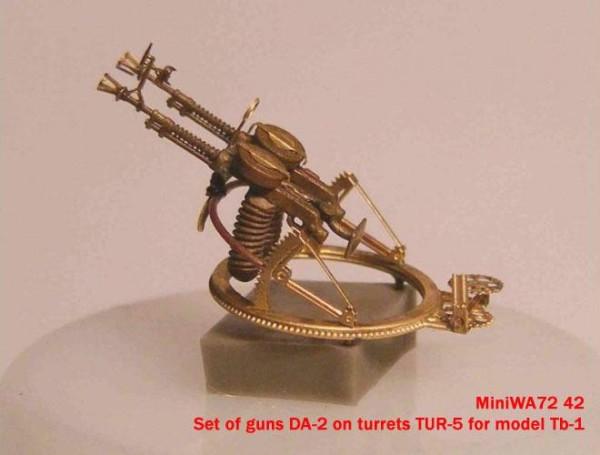 MiniWA7242    Set of guns DA-2 on turrets TUR-5 for model Tb-1 (thumb23067)