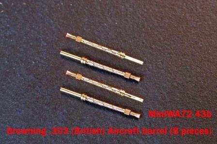 MiniWA7243b    Browning .303 (British) Aircraft barrel (8 pieces) (thumb23073)
