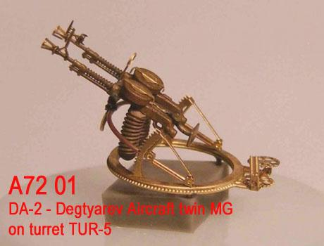 MiniWA7201    DA-2 - Degtyarev Aircraft twin MG on turret TUR-5 (thumb22935)