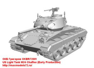 OKBR72001   US Light Tank M24 Chaffee (Early Production) (thumb24014)