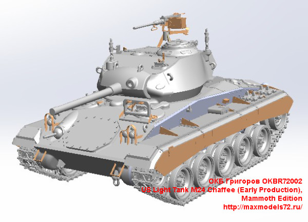 OKBR72002   US Light Tank M24 Chaffee (Early Production),Mammoth Edition (thumb24022)