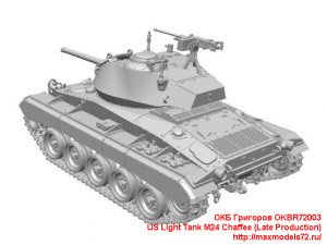OKBR72003   US Light Tank M24 Chaffee (Late Production) (attach1 24030)