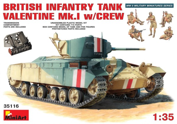 MA35116   British infantry tank Valentine Mk 1 with crew (including iterior) (thumb26331)