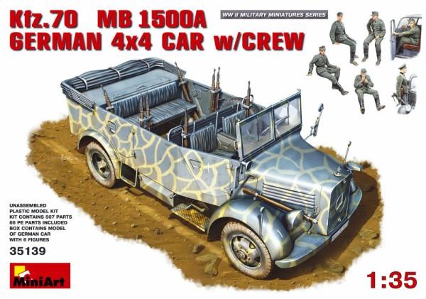 MA35139   Kfz.70 (MB 1500A) German 4x4 car with crew (thumb26429)