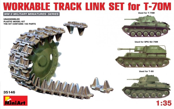 MA35146   Workable track link set for T-70M light tank (thumb26473)