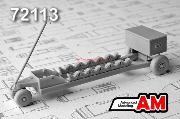 АМС 72113   Тележка для транспортировки 50-100 кг авиабомб (thumb37882)