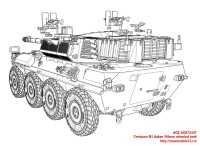 ACE72437   Centauro B1 Italian 105mm wheeled tank (attach7 25445)