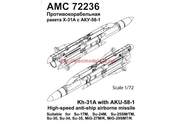 AMC 72236   Авиационная управляемая ракета Х-31А с пусковой АКУ-58-1 (thumb37825)