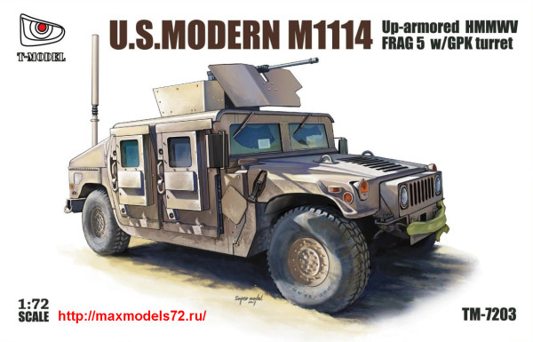 TM7203   U.S.HMMWV M1114 FRAG5 w/GPK Turret (thumb27430)