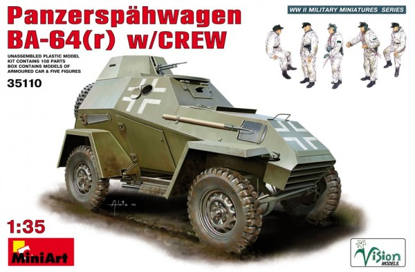 MA35110   Panzerspahwagen BA-64 (r) w/crew (thumb26315)