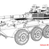 ACE72437   Centauro B1 Italian 105mm wheeled tank (attach6 25445)