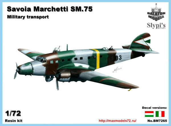 BM7265   Savoia Marchetti SM.75 RHAF transporter (thumb24205)
