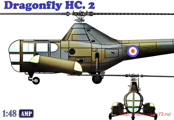 AMP48003   Westland WS-51 Dragonfly HC.2  rescue (thumb32556)