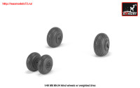 AR AW48031   1/48 Mil Mi-24 Hind wheels w/ weighted tires (attach1 25541)