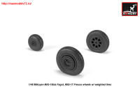 AR AW48033   1/48 Mikoyan MiG-15bis Fagot (late) / MiG-17 Fresco wheels w/ weighted tires (attach2 25551)
