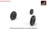 AR AW48033   1/48 Mikoyan MiG-15bis Fagot (late) / MiG-17 Fresco wheels w/ weighted tires (attach3 25551)