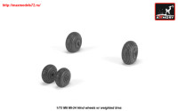 AR AW72052   1/72 Mil Mi-24 Hind wheels w/ weighted tires (attach1 25561)