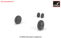 AR AW72052   1/72 Mil Mi-24 Hind wheels w/ weighted tires (attach3 25561)