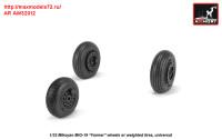AR AW32012   1/32 Mikoyan MiG-19 Farmer wheels w/ weighted tires (attach1 31263)