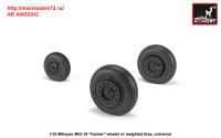 AR AW32012   1/32 Mikoyan MiG-19 Farmer wheels w/ weighted tires (attach2 31263)