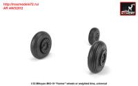 AR AW32012   1/32 Mikoyan MiG-19 Farmer wheels w/ weighted tires (attach3 31263)