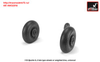 AR AW32016   1/32 Iljushin IL-2 Bark (late) wheels w/ weighted tires (attach1 31258)