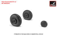 AR AW32016   1/32 Iljushin IL-2 Bark (late) wheels w/ weighted tires (attach2 31258)
