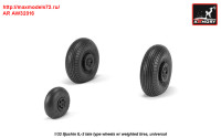 AR AW32016   1/32 Iljushin IL-2 Bark (late) wheels w/ weighted tires (attach3 31258)