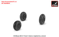 AR AW48030   1/48 Mikoyan MiG-19 Farmer wheels w/ weighted tires (attach1 31268)