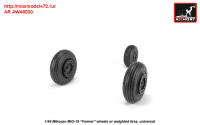 AR AW48030   1/48 Mikoyan MiG-19 Farmer wheels w/ weighted tires (attach3 31268)