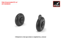 AR AW48035   1/48 Iljushin IL-2 Bark (late) wheels w/ weighted tires (attach1 31273)