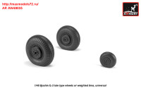 AR AW48035   1/48 Iljushin IL-2 Bark (late) wheels w/ weighted tires (attach2 31273)