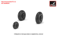 AR AW48035   1/48 Iljushin IL-2 Bark (late) wheels w/ weighted tires (attach3 31273)