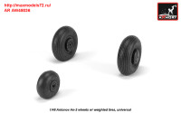 AR AW48036   1/48 Antonov An-2/An-3 Colt wheels w/ weighted tires (attach1 31278)