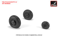 AR AW48036   1/48 Antonov An-2/An-3 Colt wheels w/ weighted tires (attach2 31278)