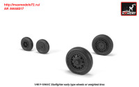 AR AW48317   1/48 F-104A/C Starfighter early wheels, w/ optional nose wheels, weighted (attach3 31283)